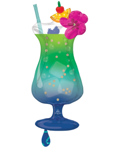 "37"" Tropical Blue Hawiian"