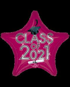 "18"" Class of 2021 - Burgundy"