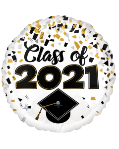 """18"""" Class of 2021 Confetti  Pkg"""