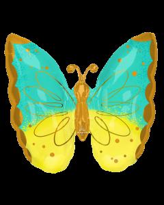 "25""Mint & Yellow Butterfly"