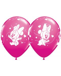 "11"" Baby Minnie Hearts Assort 25ct"