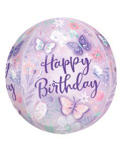 "16"" Flutters Birthday Orbz"