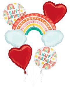 Brite Rainbow Birthday Bouquet