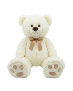 """36"""" Bow Tie Bear White"""