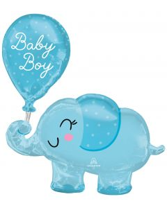 "31"" Baby Boy Elephant & Balloon"
