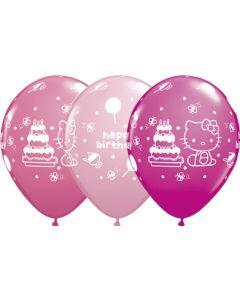 """11"""" Hello Kitty B'day Assort 25ct"""