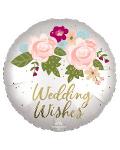 "18"" Satin Wedding Wishes Pkg"