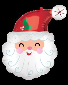 """27"""" Smiley Satin Santa"""