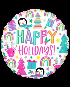"18"" Bright Happy Holidays Pkg"