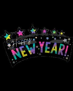 "39"" Iridescent New Year Star Banner"