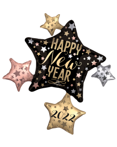 """35"""" 2022 Satin New Year Cluster"""