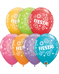 "11"" Fiesta Swirls Assort 50ct"