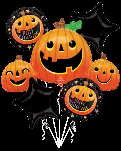 Smiley Halloween Pumpkins Bouquet