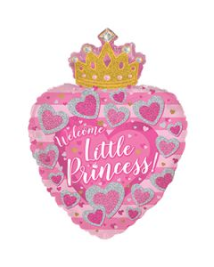 """29"""" Baby Girl Crown Pink"""