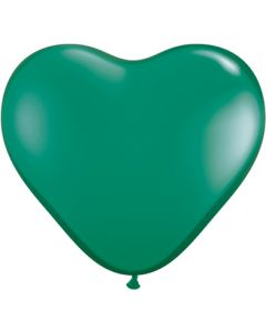 "6"" Emerald Green Hearts 100ct"
