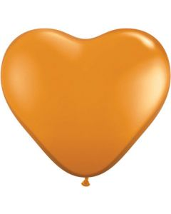 "6"" Mandarin Orange Hearts 100ct"