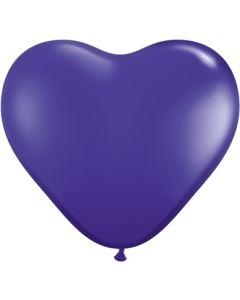 """6"""" Purple Hearts 100ct"""