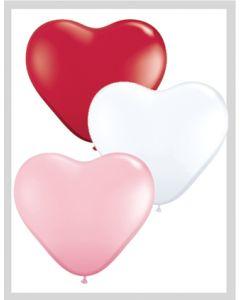 "6"" Heart Sweetheart Assort 100ct"