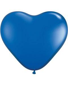 "6"" Sapphire Hearts 100ct"