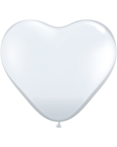 """17"""" Clear Hearts  50ct"""
