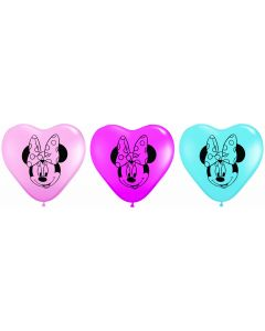 "6"" Minnie Mouse Face 100ct"