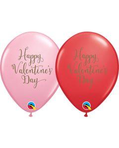 "11"" Happy Valentine's Day Script  50ct"