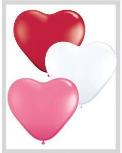 "6"" Heart Love Assort 100ct"