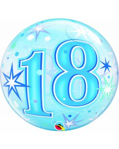 "22"" B'day Blue Starburst 18"