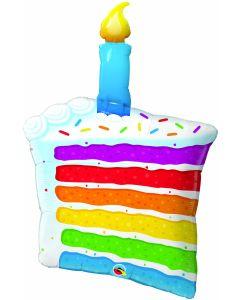 "42"" Rainbow Cake Slice"