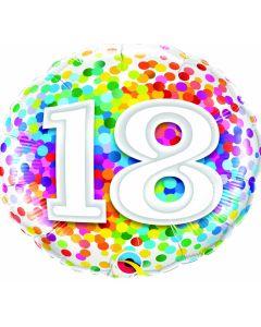 "18"" Rainbow Confetti 18"