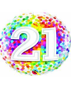 "18"" Rainbow Confetti 21"