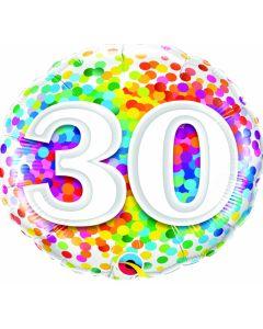 "18"" Rainbow Confetti 30"