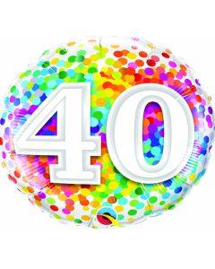 "18"" Rainbow Confetti 40"