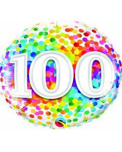 "18"" Rainbow Confetti 100"