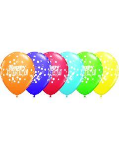 """11"""" Confetti Dots B'day 50ct"""