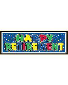 "63"" Happy Retirement Banner"