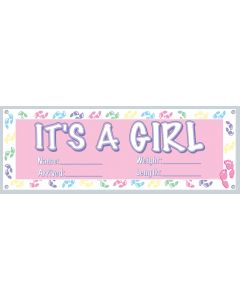 """63"""" It's A Girl Banner"""