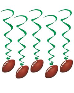 3' Football Whirls  5ct