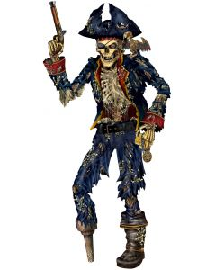 6' Jointed Skeleton Pirate