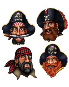 "16"" Pirate Crew Cutouts  4ct."
