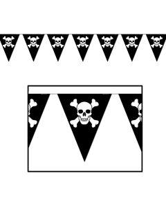 12' Jolly Roger Pennant Banner
