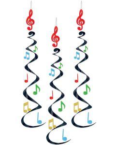 """30"""" Music Note Whirls  3ct"""