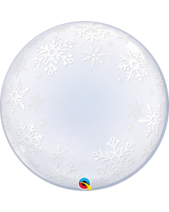 "24"" Frosty Snowflakes Deco Bubble (not self-sealing)"