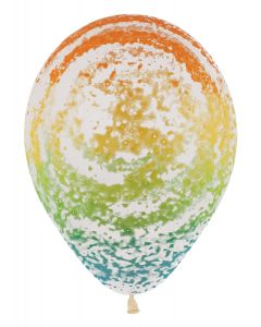 "11"" Graffiti Rainbow 50ct"
