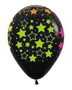 "11"" Neon Bold Stars Ard Deluxe Black"