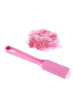 Pink Magnetic Chips 100Ct