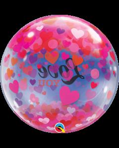 """22"""" Love Confetti Hearts Bubble"""