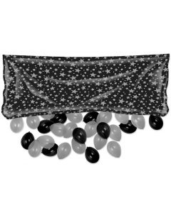 "Silver Star Balloon Bag 36""x80"""