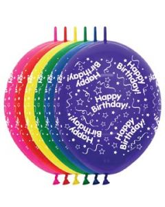"""12"""" B'day Around Link-o-Loon 50 Ct"""