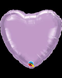"9""Pearl Lavender Heart"